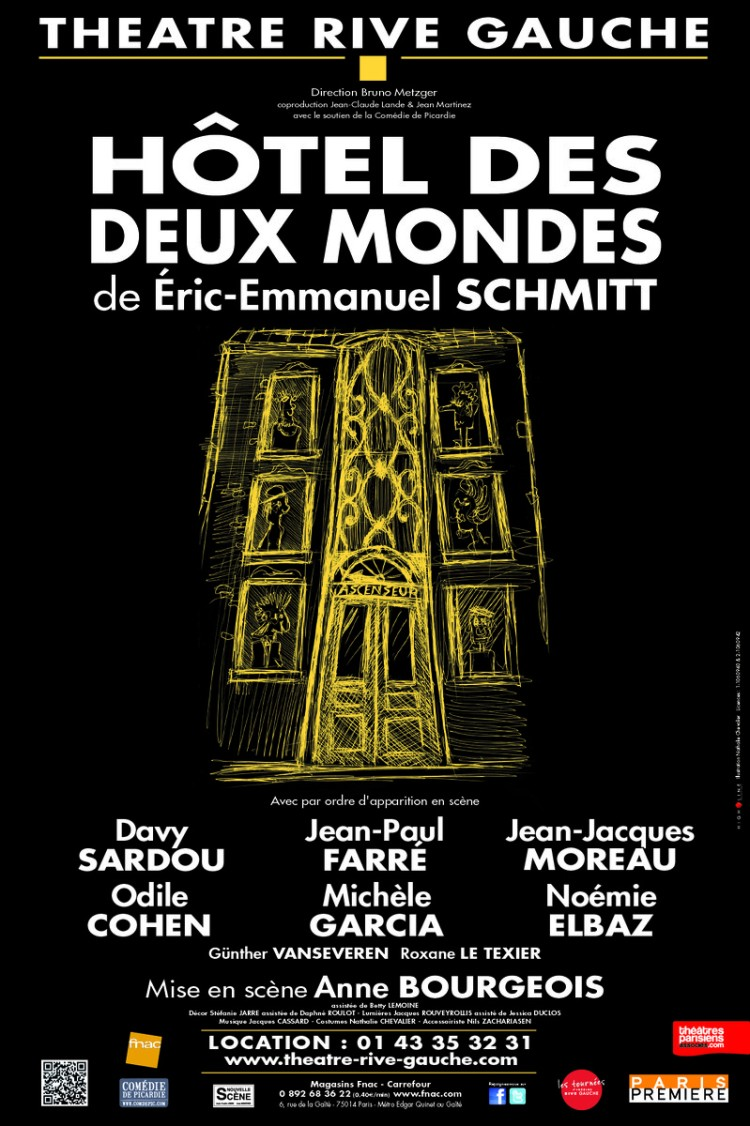 Eric-Emmanuel Schmitt, Davy Sardou, Jean-Paul Farre, Jean-Jacques Moreau, Michèle Garcia, Odile Cohen, Noémie Elbaz, Günther Vanseveren, Roxane Le Texier, Anne Bourgeois, vlog culture, blog culture, expositions, musées, paris , vlog cinema, vlog sorties, vlog restaurants, sorties à paris, restaurants paris, restaurants, bars, salons de thé, brunch, theatre, concerts, boîtes, lieux de nuit, nouvelle youtubeuse, blog chroniques, chroniques culture, chroniques cinéma, chroniques expositions, chroniques restaurants, youtubeuse culture, youtubeuse cinema, youtubeuse expos, youtubeuse paris, youtubeuse sorties, youtubeuse restaurants, restos, tests restos, spectacles, comédies musicales, danse, concerts, blog cinema, blog paris, blogueuse culture, blogueuse theatre, blogueuse ciné, culture, fille de paname, filledepaname, vlog paris, paname, blog paris, blog parisien, hotel des deux mondes, théâtre rive gauche