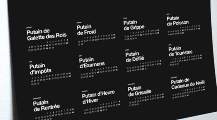 calendrier putain
