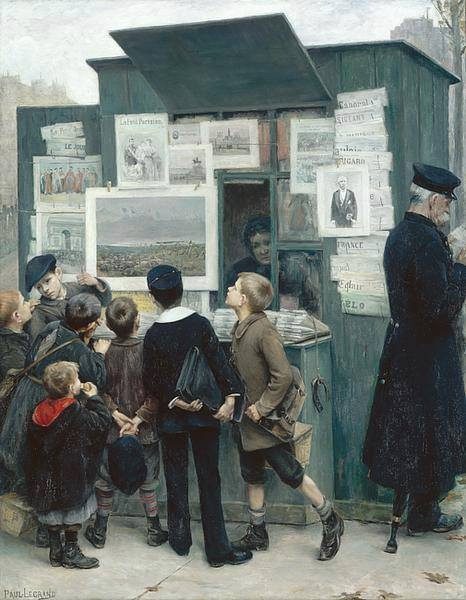 Paul Emmanuel Legrand (1860-1967)  Devant le Rêve de Detaille, 1897.