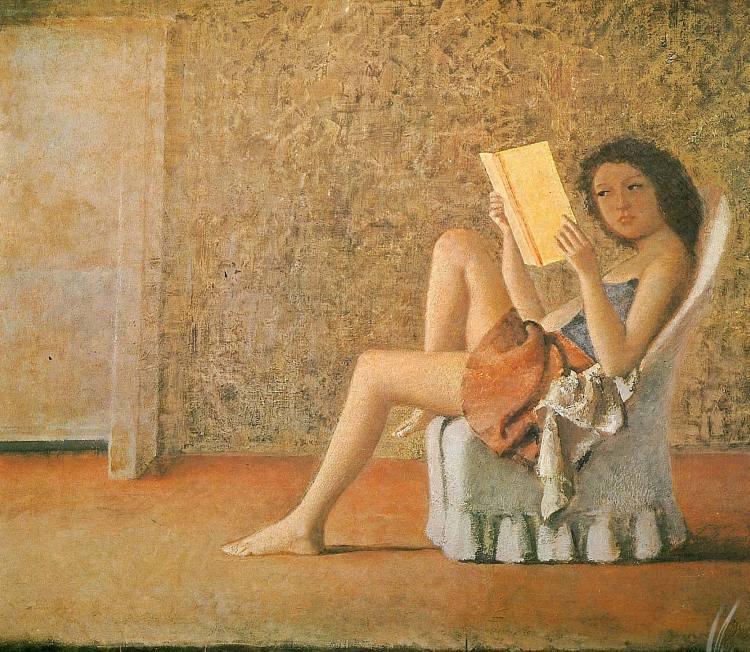 💫Le tableau du jour💫 Balthus (1908 -2001) Katia reading, 1974