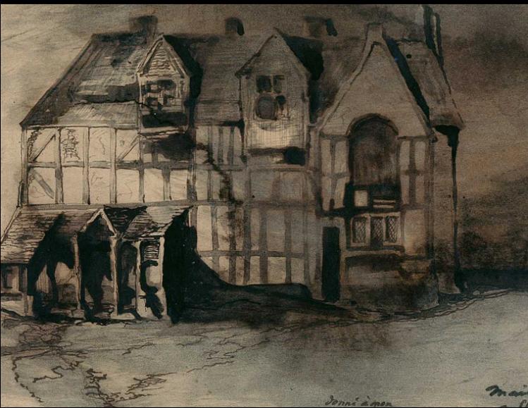 Maison de Shakespeare à Stratford sur l'Avon