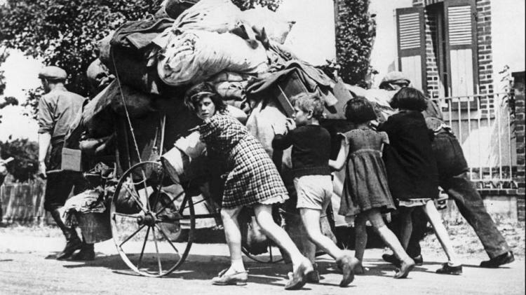 Parisiens dans l'exode de 1940